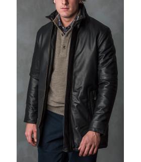 Abrigo piel negro