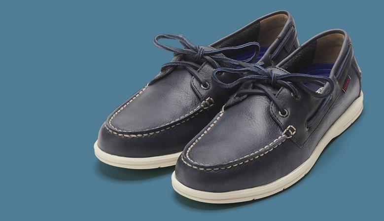 Sebago Naples® Blue Navy Leather