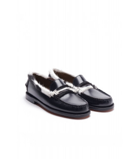 Classic Dan Collar Fur Penny Loafer